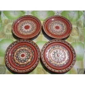 Чиния 26 см - Троянски ръчно изработен глинен съд