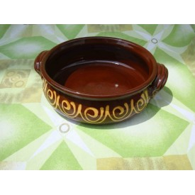 Керамична тава за печене 31см ръчно правена